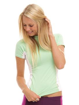 O'Neill women's S/S skins - (Mint)