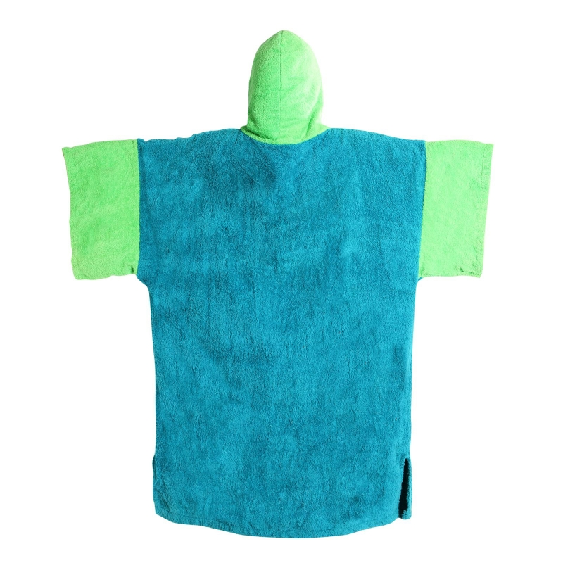 Madness Teal-Lime poncho