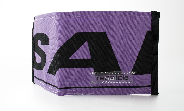 ReSailCle - Gun purple wallet