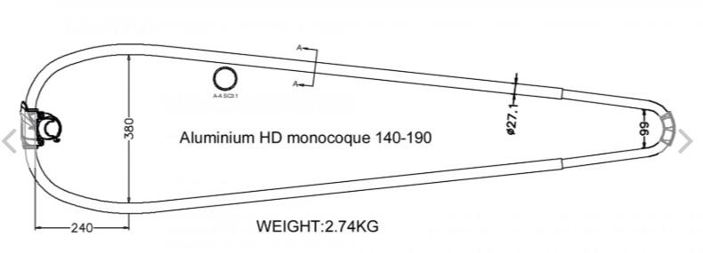 Unifiber Aluminium HD Monocoque boom