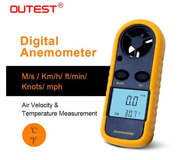 Handheld anemometer / wind gauge