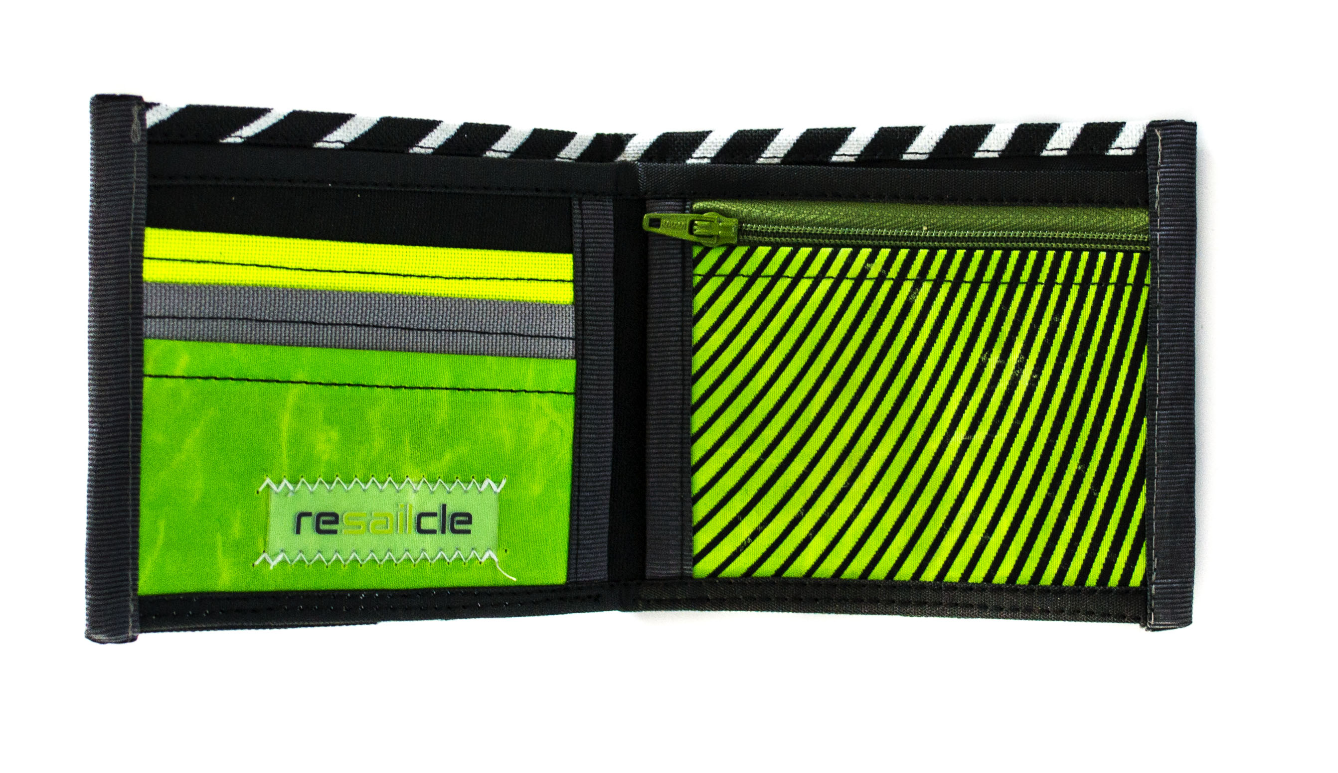 ReSailCle - RRD black and green II. wallet