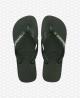 Havaianas Brasil logo flip-flop papucs - Olive