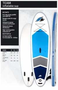 F2 Team inflatable SUP board>